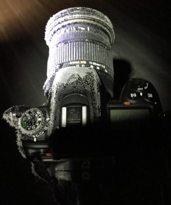 カメラが凍