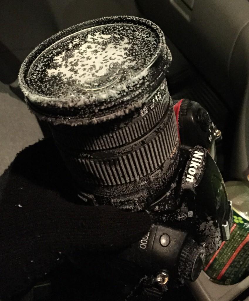 カメラが凍結