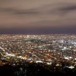 北海道札幌市藻岩山から夜景を撮影しました。