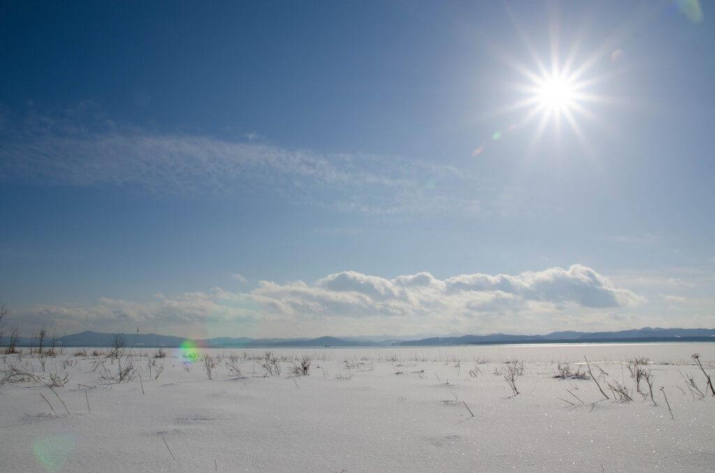 冬のサロマ湖