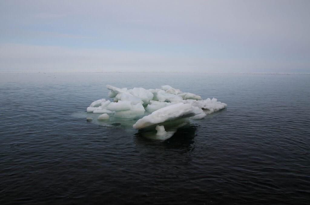 紋別流氷接岸