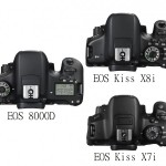 Canon(キャノン)。EOS 70D!EOS 8000D!EOS Kiss X8i!EOS Kiss X7iの違いを比較検証。
