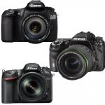 ニコンD7200、キャノンEOS 80D・70D、ペンタックスK-3の違いを比較検証。