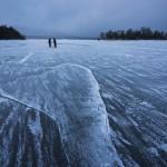 凍結した阿寒湖へ行ってきた!阿寒の自然は美しい!北海道新聞に載ってた・・・。