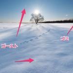 影映る雪面を自然に現像してみる!少しの工夫で楽に美しい雪面に現像!