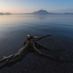 支笏湖で幻想的な風景を撮影!NDフィルターを使って長時間露光!