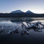 凍結しはじめのオンネトー湖を撮影してきた!これから始まる冬が楽しみ!