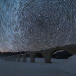 タウシュベツ川橋梁で星をグルグル回してきた!星夜のタウシュベツは幻想的!