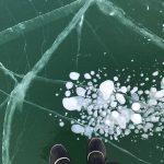 糠平湖でアイスバブルを撮影してきた!2度目のアイスバブル。
